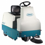 Ride On Sweeper, Battery-Operated, 24 V, 30 in Cleaning Path Width, 3 cu ft Hopper Capacity